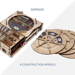 Barrage + 4 construction wheels – Bundle