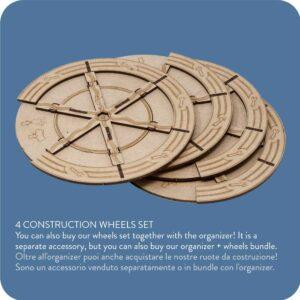Organizer Insert Barrage – 4 construction wheels set