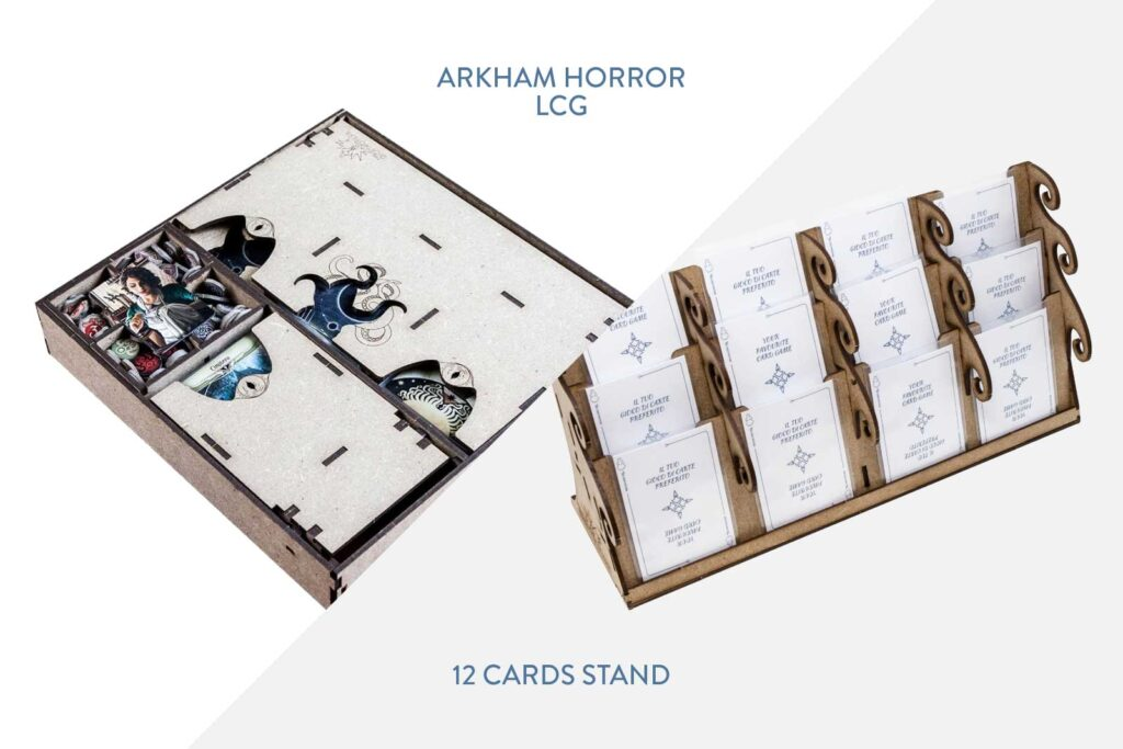 Arkham Horror LCG Insert + 12 Cards Stand – Bundle