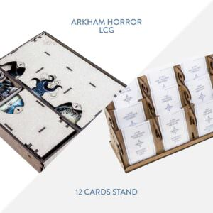 Arkham Horror LCG Insert + 12 Cards Stand – Bundle