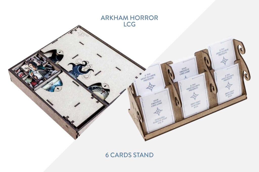 Arkham Horror LCG Insert + 6 Cards Stand – Bundle