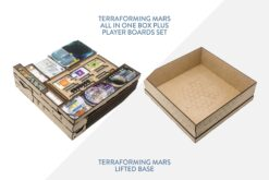 Terraforming Mars: All in one box plus player boards set + Lifted base – Bundle