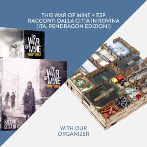This War of Mine + Racconti dalla Città in Rovina expansion (ITA, Pendragon Edizioni) + Organizer – Bundle