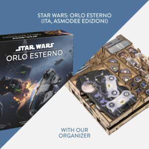 Star Wars Orlo Esterno (ITA, Asmodee Edizioni) + Organizer – Bundle