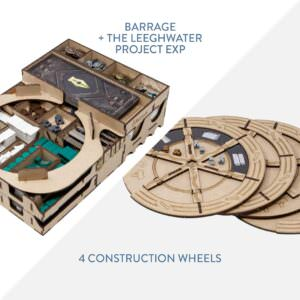 Barrage + The Leeghwater Project exp + 4 construction wheels – Bundle