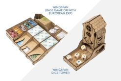 Wingspan organizer (base or with European exp) + Dice Tower – Bundle