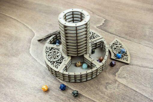 The Dice Peninsula – Lighthouse Dice Tower and Dice Coast Dice Holder – Bundle